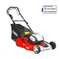 Cobra RM51SP80V Cordless Rear Roller Lawnmower with 2 x Battery & Charger