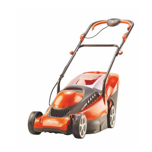 flymo chevron 37vc electric wheeled lawn mower