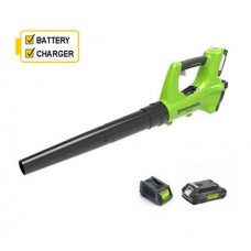 Greenworks G24ABK2 24v Blower c/w battery and charger