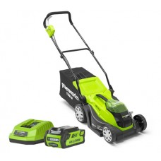 Greenworks G40LM35 40v Cordless mower c/w 2 x batteries & charger