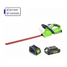 Greenworks G24HT54K2 24V Hedgetrimmer c/w Battery and Charger