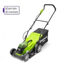 Greenworks G40LM35K2 40v Cordless mower c/w battery & charger