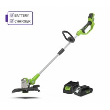 Greenworks G24LT30K2 Deluxe Line Trimmer C/W 2Ah Battery and Charger
