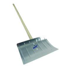 Wooden Handle 400mm Width Aluminium Snow Shovel