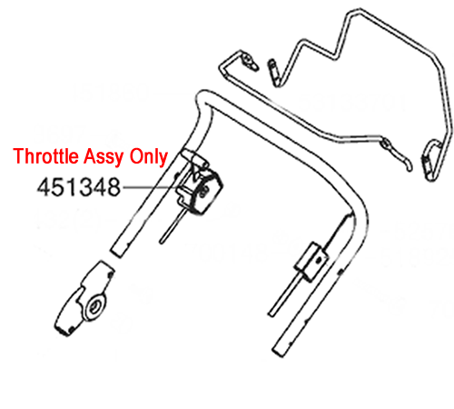 ALKO Lawnmower Throttle Cable 452670