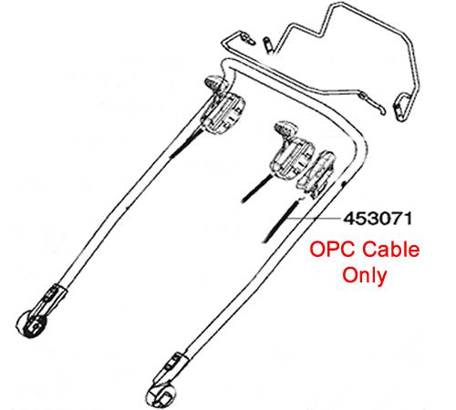 AL-KO Lawnmower OPC Cable 453071
