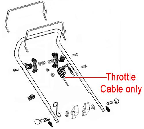 ALKO Rear Roller Lawnmower Throttle Cable 529466