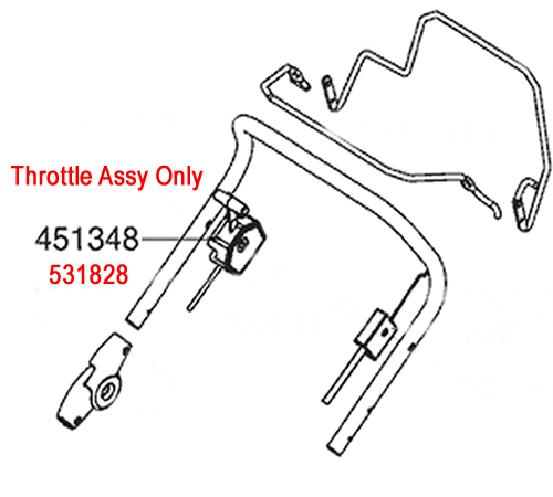 ALKO Lawnmower Throttle Cable 531828