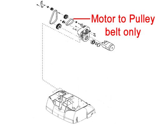 ALKO 38VLE Scarifier Motor to Drive Belt (AK463782)