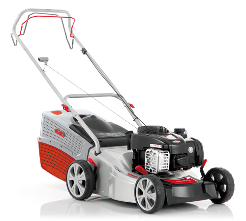 The AL-KO Highline 42. 7 SP 4 wheel mower with a 16