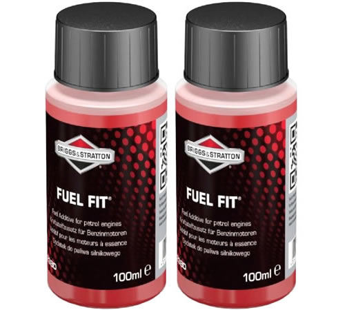 """Two x 100ml Bottles Briggs & Stratton Fuel Fit Stabiliser 992380Use Briggs & Stratton Fuel Fit """"¢ fuel stabiliser products to help keep your fuel fit"""