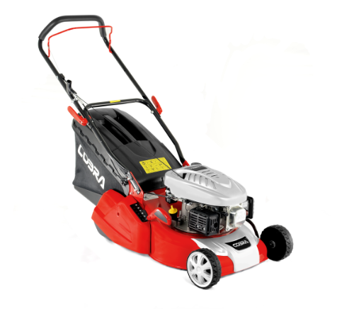 The Cobra RM40C is a push lawn mower with a full width rear roller for a traditional striped effect. With a 16 inch / 40cm cutting width the Cobra RM4