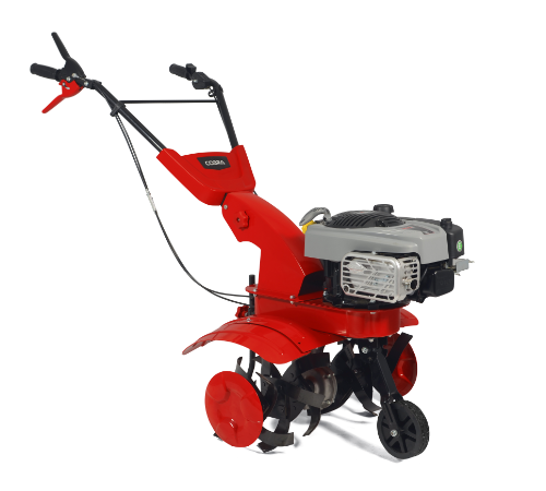 Petrol cultivators are suitable for both the home garden and the allotment. Larger sized tiller suitable for areas up to 1500 square metres. The Cobra