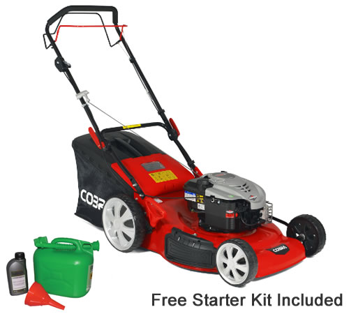 Cobra M56SPB 56cm Cut 4 in 1 Self Propelled Petrol Lawn mower