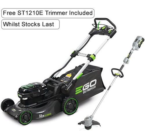 EGO Power + LM2024E-SP Self-Propelled Cordless Lawnmower c/w Battery & Charger