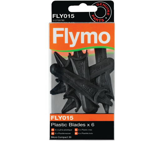 Flymo Replacement Durablades for Micro Compact MC30 Mowers (6)
