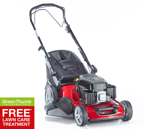 Steel decked self-propelled Mountfield lawnmower with 4 in 1cutting functions including cut & collection, rear discharge, sidedischarge and mulch. The