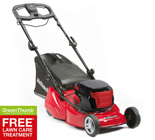 Mountfield range of cordless lawnmowers for 2016 use powerful 80v lithium-ion batteries which produce 1500 w of power. The higher voltage 80v batterie