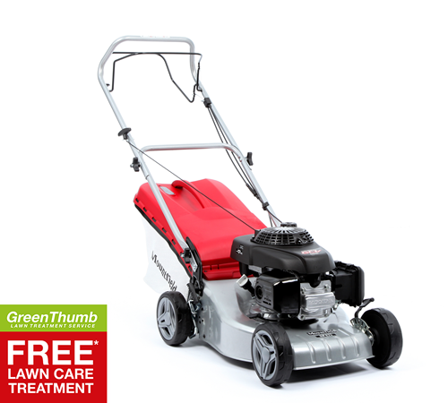 Powered by a Honda 160cc 4 stroke engine this Mountfield SP425 self propelled four wheel lawn mower is very smooth, quiet and easy to start. The Mount