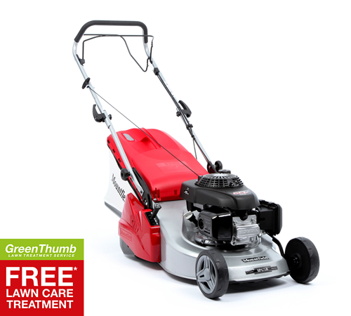 The Mountfield SP425 R is a self propelled rotary mower with a 41cm/16in cutting width, rear roller for lawn striping and a Honda 160cc petrol engine