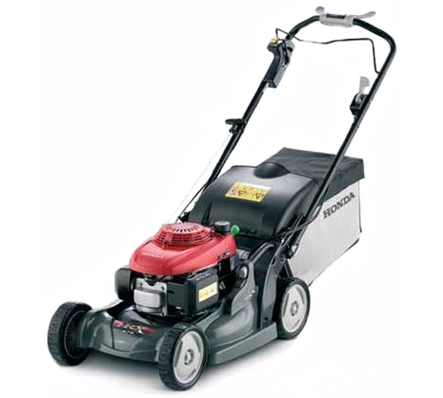 The Honda HRX476 VY is a self propelled variable speed 4 wheel rotary lawn mower with a 160cc OHC engine, 19 inch cutting width, polystrong polymer de