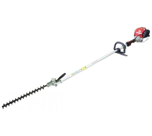 This Handy professional long reach hedge cutter features a 27cc Kawasaki engine, double sided 38cm cutting blades and a loop handle. The double sided