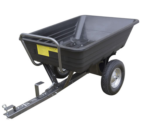 Handy 650lb Poly Body Towed Dump Cart