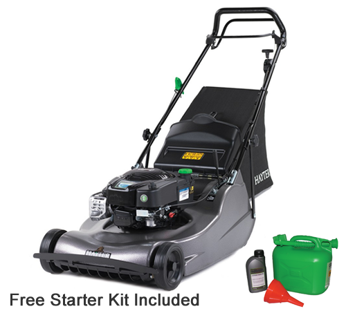 The Harrier 56 Pro with rear roller is powered by the Briggs and Stratton 850 Series engine giving superb reliability and fuel efficiency as well as b