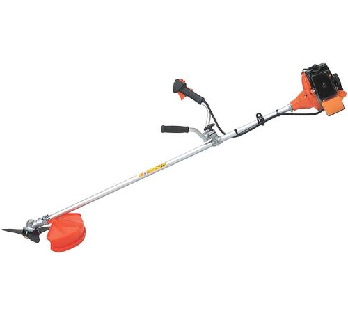 The Hitachi CG47EJ(T) Brushcutter has left and right handles which can be separately adjusted. The fully turning handles allow for compact transportat