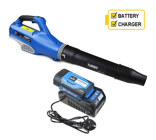 Hyundai HYB60Li 60v Cordless Leaf Blower with Battery and Charger