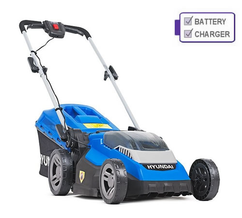 Hyundai HYM40LI380P 40v Cordless Rear Roller Lawn Mower c/w Battery and Charger
