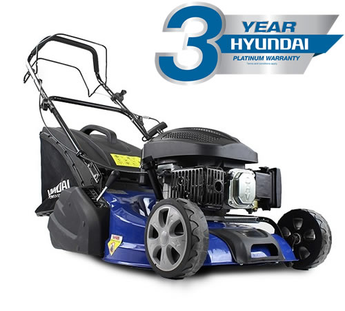 An outstanding price for oneof the best petrol roller mowers you can buy! The Hyundai HYM460SPR comesfitted with a powerful Hyundai OHV 4-stroke petro