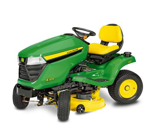 John Deere X304 4-Wheel Steer Mulching Tractor