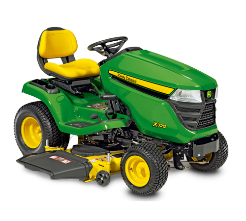 John Deere X320 Mulching Tractor (48 inch deck and free mulch kit) Package