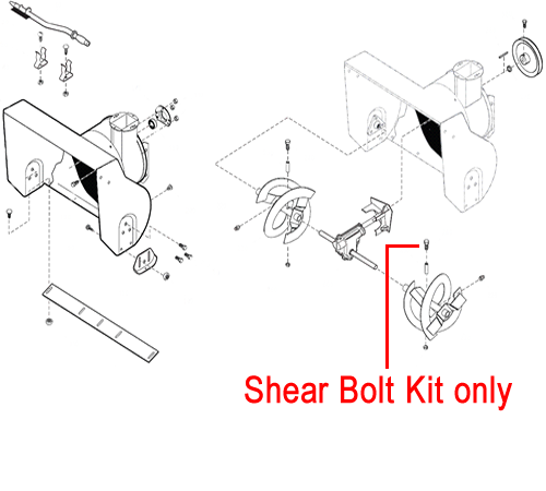 Replacement genuine Stiga shear bolt kit for the Stiga Snow Flake, Stiga Snow Power and Stiga Snow Blizzard petrol snow throwers.