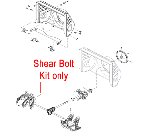 Replacement genuine Stiga shear bolt kit for the Stiga Snow Fox, Stiga Snow Pro 1171 and Stiga Snow Pro HST 1381 petrol snow throwers.