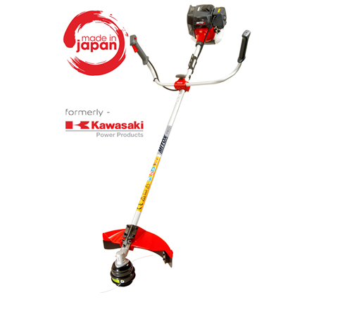 Mitox 4500UK Pro Series straight shaft commercial grade brush cutter with nylon cutting head and metal brush cutter blade. Recommended for heavy duty,