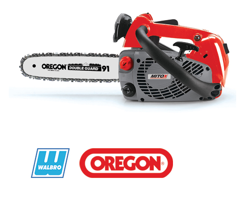 Top Handle Saws are recommended for use by experienced users onlyThe Mitox Select Series of petrol saws offer professional quality features for an aff