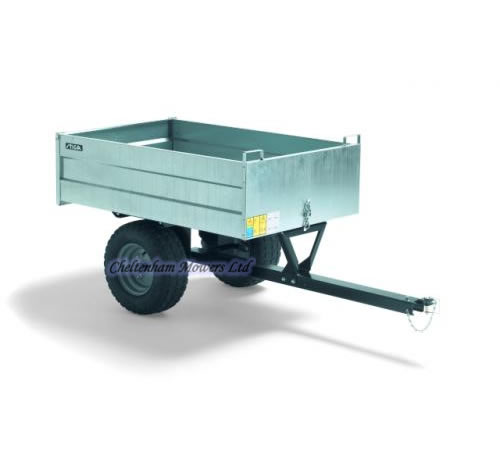 Mountfield galvanized steel body trailer with removable rear tailgate. These features make this pro-cart a useful piece of gardening equipment. The tr