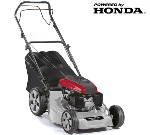 The Mountfield SP53 Elite rotary mower is a self-propelled, 4 wheel mower. Fitted with a powerful Honda engine, this power-driven petrol mower is idea