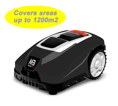 Mowbot 1200 28v 3Ah Robotic Lawnmower Black