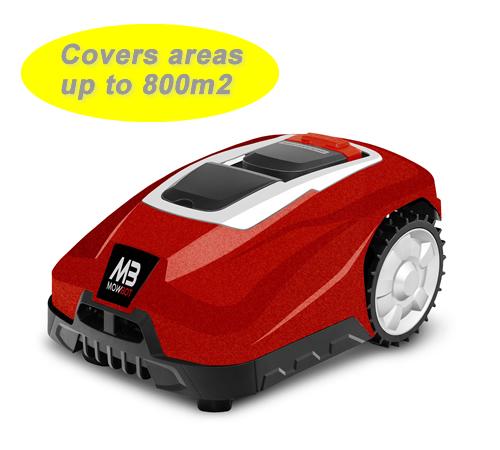 Mowbot 800 28v 2.5Ah Robotic Lawnmower Metallic Red