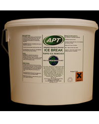 Apt Ice Break is an ice melting solution that works 8 timesfaster than other conventional rock and salt mixtures. It is the ideal productfor quickly d