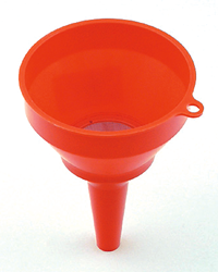 Ideal for using when filling your garden equipment such as lawnmowers, garden tractors and ride on mowers. This polyethylene fuel funnel is resistant