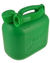 An essential purchase when using a lawnmower, garden tractor or other gardening equipment. A quality 5 litre capacity green plastic fuel container com