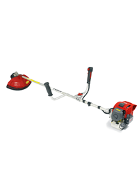 Kawasaki engine brushcutters from Cobra garden machinery featuring either loop or bike handles, nylon line and metal blade cutter heads. The Cobra BC3