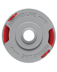 Flymo spool and cutting line suitable for using with the Flymo Sabre Trim, Flymo Contour Power Plus Cordless and Flymo Cordless Contour XT / 500XT gra