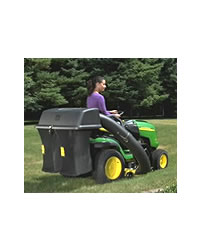 This 6. 5 bushel capacity grass collector is suitable for attachment to the John Deere X110, X120, X125, X145 and L100 series tractors (with 42 inch c