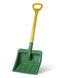 John Deere Rolly green and yellow plastic toy snow shovel. - Height: 9cm- Width: 26cm- Length: 71cmNot suitable for children under 3 years of age.