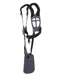 A new ergonomic harness from Husqvarna that distributes the load optimally between shoulders, chest and back. Wide padded straps and wide back plate r